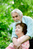 Two pensioners — Stock Photo