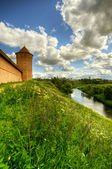 Tower and fortification — Stock Photo