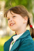 Portrait small girl — Stock Photo