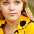 Portrait of girl in yellow dress — Stock Photo