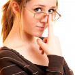 Portrait of girl with glasses — Stock Photo #2588168