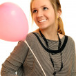 Portrait of girl with balloon — Stock Photo
