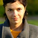 Portrait of girl in coat — Stock Photo #2588521