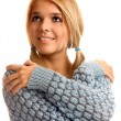 Portrait of girl in sweater — Stock Photo