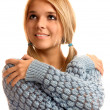 Portrait of girl in sweater - Stock Photo