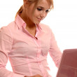 Girl with laptop — Stock Photo #2588738