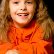 Little girl laughs - Stockfoto