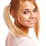 Portrait of fine blonde — Stock Photo