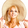 Girl in straw hat — Stock Photo #2588772