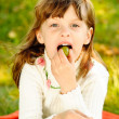 Child eats grapes — Stock Photo #2588784