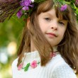 Girl with wreath — Stock Photo #2588788