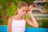 Girl-teenager on summer vacations — Stock Photo