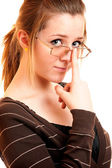 Portrait of girl with glasses — Stock Photo