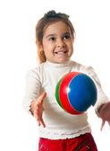 Preschool child with ball — Stock Photo