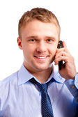 Man speaks on cellular telephone — Stock Photo