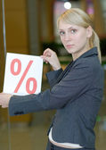 Discounts in shop — Stock Photo
