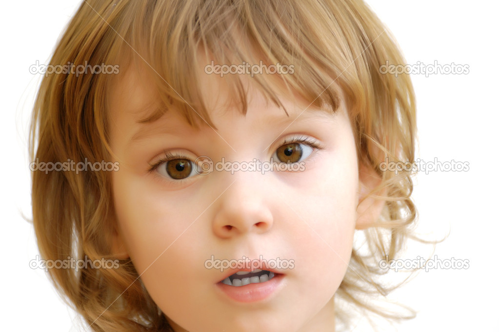 Face of the girl which looks directly in an objective. — Stock Photo #2588036