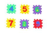 4, 5, 6, 7, 8, 9 — Stock Photo