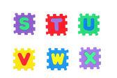 S, t, u, v, w, x — Stock Photo