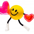 Smile with two hearts — Stock Photo