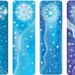 Royalty-Free Stock Vector Image: Blue winter banners