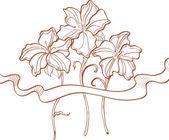 Vacker blomdekor — Stockvektor