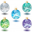 Christmas Decoration Balls — Stock Vector #1834290