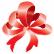 Royalty-Free Stock Vector Image: Red bow over white