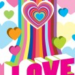 Royalty-Free Stock Vector Image: Valentine\'s colour decoration