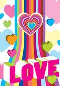 Valentine's colour decoration — Stock Vector