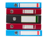 Vertical Stack Of Files — Stock Photo