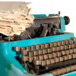Typewriter And Newspapers — Stock Photo