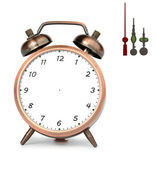 Bronze Alarm Clock — Foto de Stock