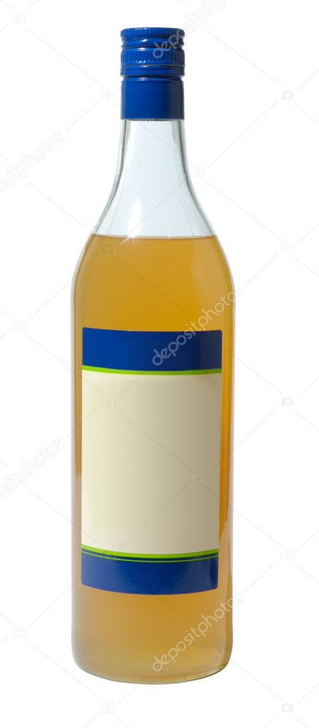 Bottle with citrus sirup isolated with clipping path over white — Stock Photo #2251133