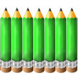 Stock Photo: Green lead pencil background
