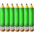 Green lead pencil background — Stock Photo #1700565