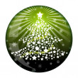 New Year fir ball glass — Stock Photo #1709097