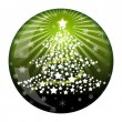 Stock Photo: New Year fir ball glass