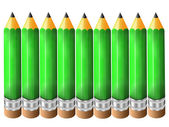 Green lead pencil background — 图库照片