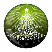 New Year fir ball glass — Stock Photo