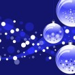 New Year ball blue card — Stock Photo #1726840