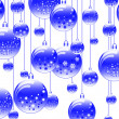 New Year's ball blue — Stock Photo