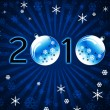 New Year's ball blue card — Stock Photo #1726963