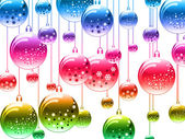 New Year's ball many-coloured — Foto Stock