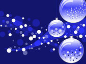 New Year ball blue card — Stock Photo