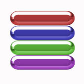 Many-colored volume buttons — 图库照片