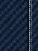 Costura de jeans — Foto Stock