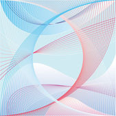 Blue red line background vector — 图库照片