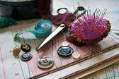 Cosas de coser — Foto de Stock