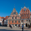 Stock Photo: Blackhead's house in Riga, Latvia